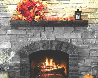 "Fireplace Mantel Ledge ""Reclaimed"" Style"