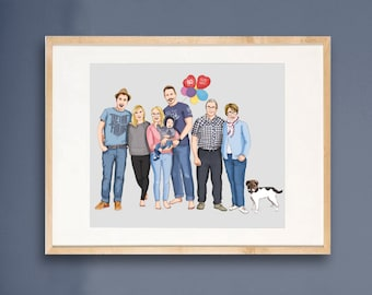 Custom Family Portrait, up to 8 people