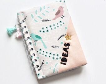 a6 notebook, handmade notebook, writing journal, diary, handmade notebook, biege journal