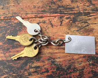 Vintage Keys, Set of Vintage Keys, Adoption Records Keys