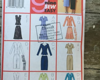 Butterick 3037 work suit pattern from 2001. Size 20-22-24 9 designs. Sew easy