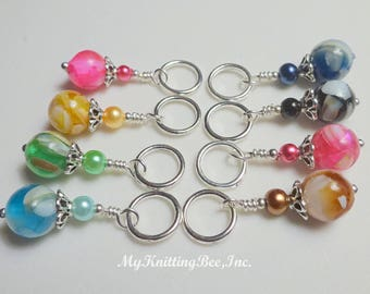 Snag Free Multi-Color Stitch Markers  (Set of 8) (E0067)