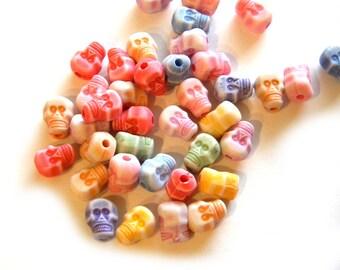 20 Skull Beads