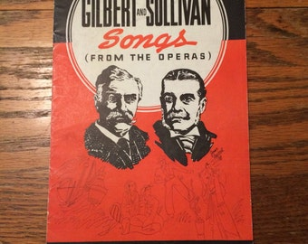 Vintage Sheet Music Collection Of Gilbert & Sullivan Songs From The Operas 1938