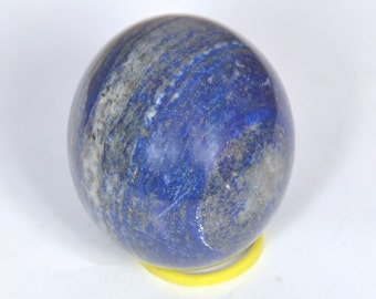 WholesaleGemShop 40 mm Blue Lapis Lazuli Sphere w/ Pyrite Natural Crystal with Free Shipping