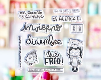 Clear Stamp Invierno P6 (10 x 10 cm)