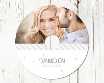 Dvd Label Template - Cd Label Template - Senior - Studio Dvd Label - Studio CD Label - Photoshop Templates - D010 - instant download