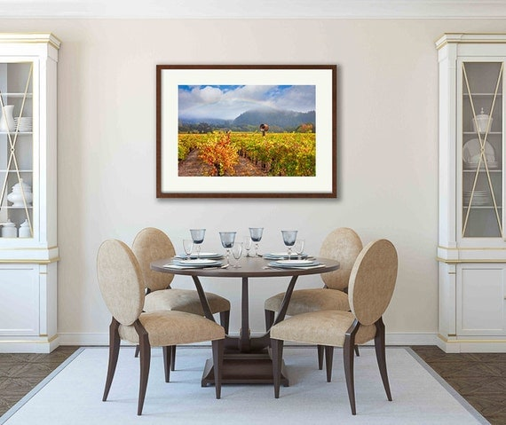 Framed Wall Art Napa Valley Decor Wooden Frame Framed Art