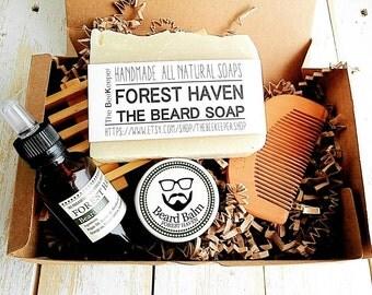 beard grooming set beard kit beard oil beard balm mens. Black Bedroom Furniture Sets. Home Design Ideas