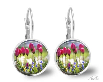 Earrings flowers Spring 2