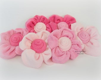 12 CT. Washcloth Flower, Baby Shower Decoration, Baby Shower Favor, Diaper Cake, flowers, Hospital Gift, Mom to Be Gift, Washcloth Bouquet