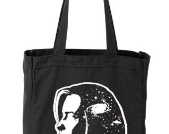 Dana Scully: I WANT TO BELIEVE tote grocery bag x files aliens gillian anderson