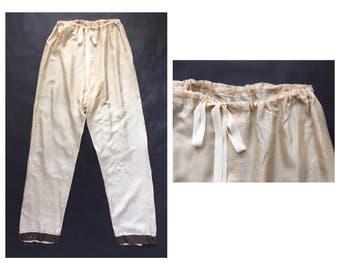 1920's Silk Pajama Bottoms
