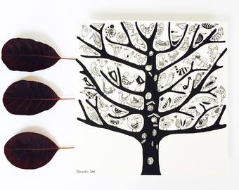 TREE bird card