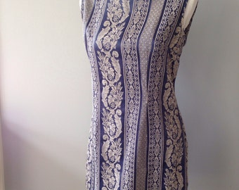 Vintage 90's shift mini dress - 60's inspired dress size M/L