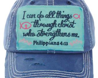Philippians 4:13 Baseball Cap