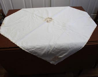 Crochet and Cut Out Tablecloth