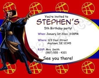Dr. Strange Birthday Invitation - Printable