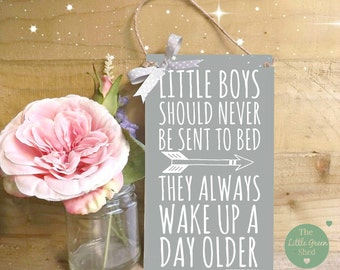 Peter Pan Nursery Sign Plaque Little Boys Wall Decor Gift