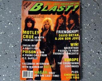 Motley Crue - Blast! Magazine - July 1987