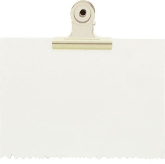 Metal Clip Tabs Sticky Notes Little B Binder Clip White Blank Note
