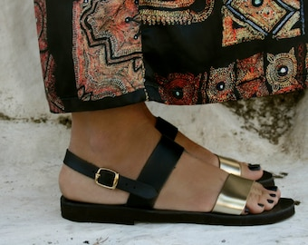 FREE SHIPPING Genuine Greek Leather Sandal : Electra
