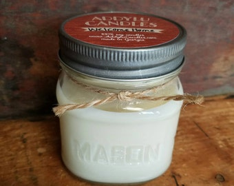 Welcome Home Candle 8oz mason jar soy candle / handmade soy candles