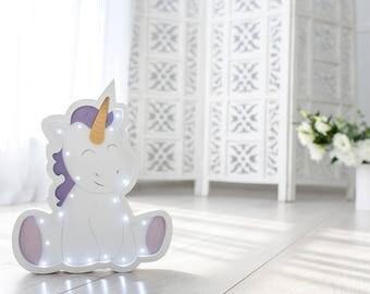 Unicorn night light - Unicorn light - Unicorn lamp - Unicorn decor - Unicorn nursery - Dimmer night light - Unicorn wall art - Unicorn party