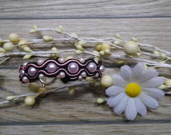 bracelet  / soutache technique / handmade (nr371)