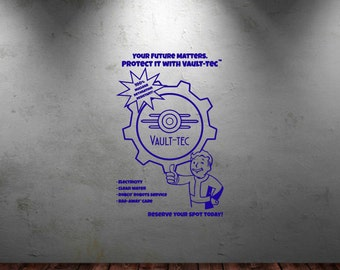 Vault tec etsy for Fallout 4 mural