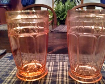 doric pink 5 inches tall 12 oz. footed tumblers