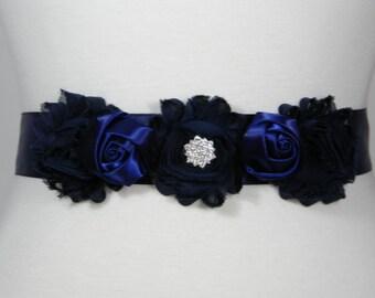 Wedding Belt, Bridal Belt, Wedding Sash, Bridal Sash, Flower Girl Dress Belt, Floral Bridesmaid Belt, Crystal Rhinestone Bridal Belt JASMINE