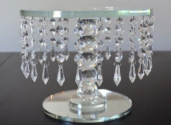 Crystal cake stand round wedding