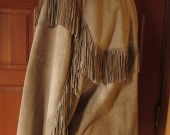 """SCULLY Brand Fringed Leather Jacket/45-46""""  Man's Scully Western Leather Jacket/ Vintage Scully"""