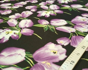 Black and purple chiffon fabric #2160