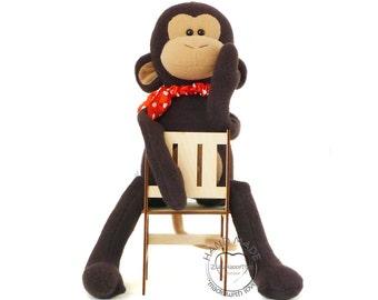 Stuffed monkey toy 38 cm (15 inch), monkey plush doll, stuffed toys, Stuffed animals toy