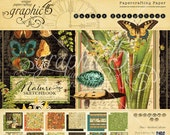 SALE!! NEW!! Graphic 45 Nature's Sketchbook 8x8 Paper Pad, SC007681