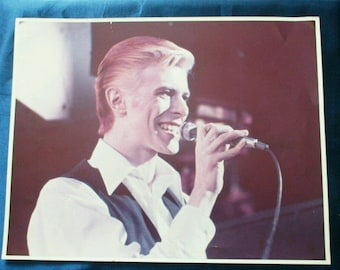 "David Bowie photo picture poster  concert photo White Duke 11"" x14"" original vintage Ultra Rare! photograph David Bowie poster Bowie picture"