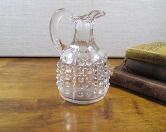 Small Hobnail Clear Glass Cruet