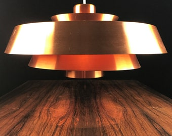 Classic high quality copper ceiling light by Jo Hammerborg
