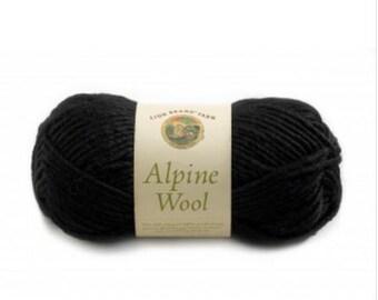 Lion Brand Yarn - Alpine Wool - Black Pepper (154)