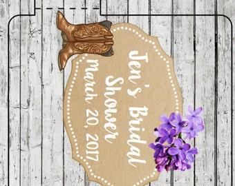 Cowboy Wedding Showing Flower Personalized Lip Balms Shabby Chic