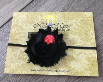 Black & Coral Headband