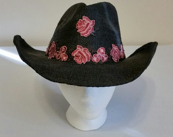 Black Rose Cowboy Hat