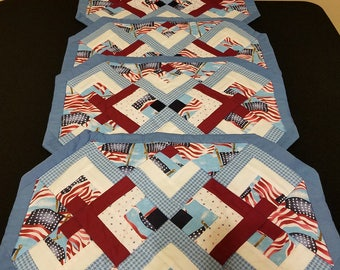 Blue Flag Placemats Set of 4