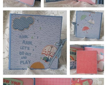 Scrapbook Photo Album, Children's Mini Album, Scrapbook Mini Photo Album, Memory Book
