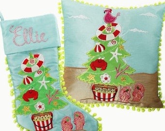 Beach Tree Stocking and Cushion Pack