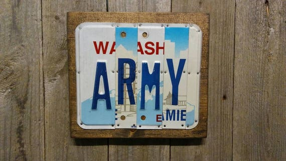 Army License Plate Sign - Army Gift - US Army Sign - License Plate Wall Art - US Military Sign - Unique Army Gift