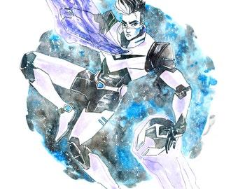 "Shiro Voltron Legendary Defender Illustration 8"" x 10"" Colorful Art Print"