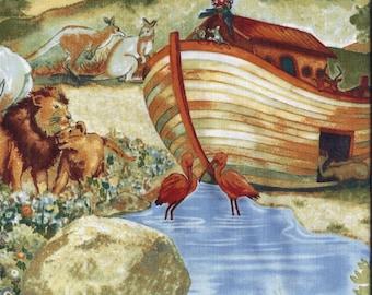 Noahs Ark Animals Curtain Valance